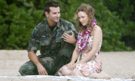 Bradley Cooper and Rachel McAdams film a scene together for their new movie on the beach in Oahu, Hawaii, on Nov. 6, 2013. The actors were working on a film for the Untitled Cameron Crowe movie about a military contractor reconnecting with a long-ago love while unexpectedly falling for the hard-charging Air Force watchdog assigned to him.